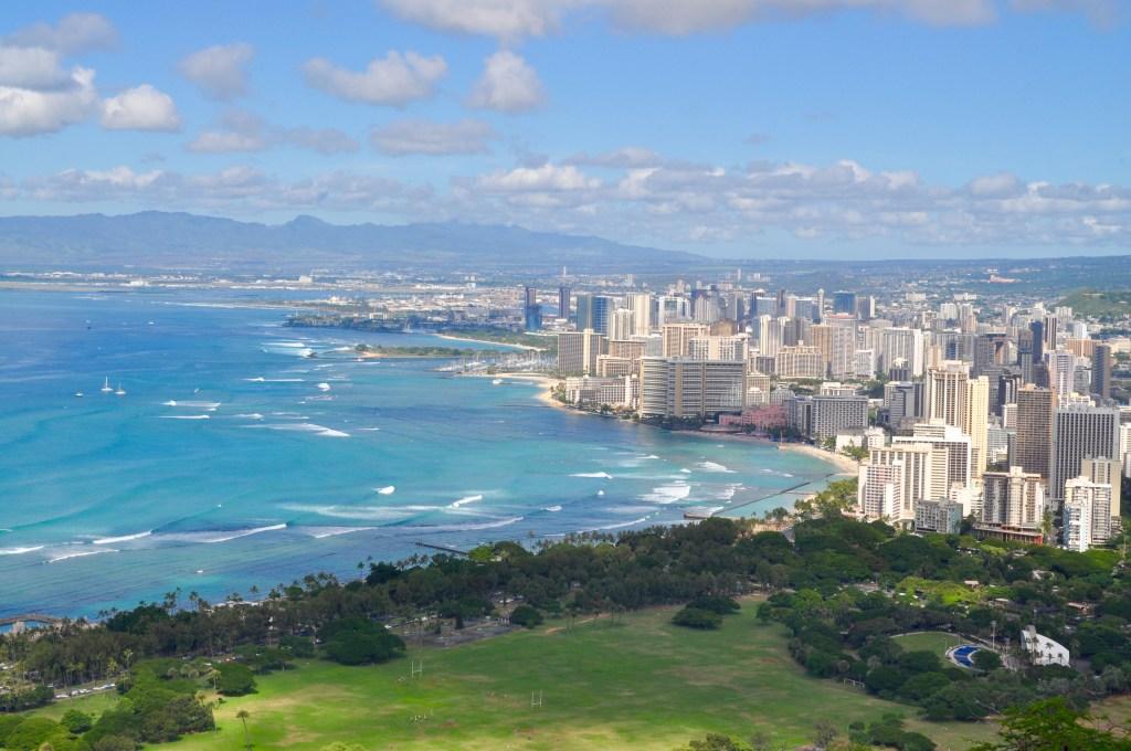 Diamond Head view of Waikiki