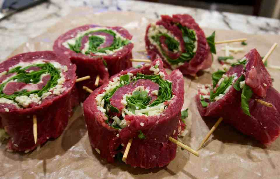 spinach and gorgonzola stuffed flank steak serious eats flank steak ...