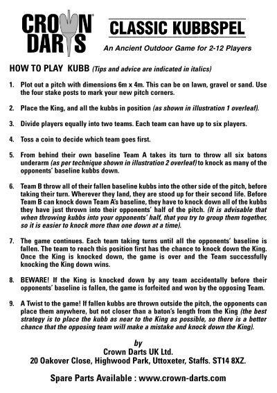 Kubb Game Rules Pdf Games World