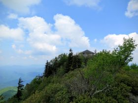 Mt. Cammerer lookout tower perched on the ridge