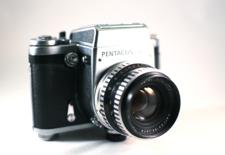 Pentacon Six camera.  Photo by Zach Horton.