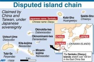 Gráfico de AFP en el que se resume el conflicto y la situación geográfica de las islas
