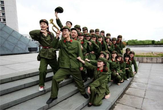 Al más puro estilo Mao Zedong. En una universidad de la provincia de Zhejiang.