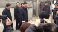 El presidente de China se ha presentado esta mañana en uno de los barrios más populares de la capital china, en torno a la calle de Nanluo guxiang