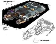 155-vaisseaux design concept dessin