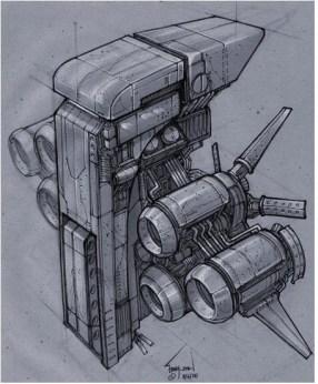166-vaisseaux design concept dessin