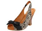 Naya - Giada (Natural Wonder/Black Lace Print Fabric/Black Leather) - Footwear