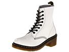 Dr. Martens - Clemency 8-Tie Boot (White Patent Lamper) - Footwear