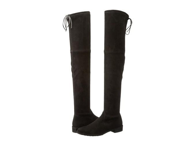 Stuart Weitzman - Lowland (Black Suede) Women's Pull-on Boots