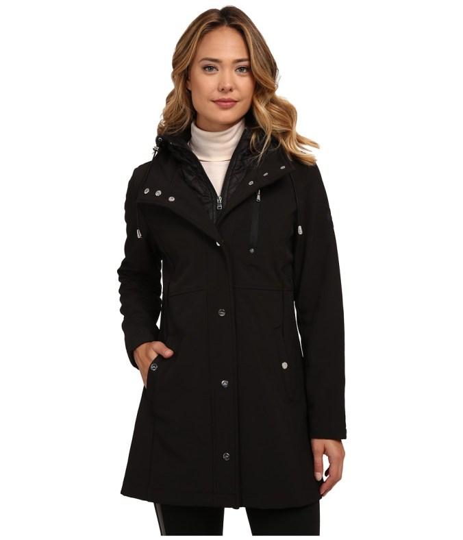 LAUREN by Ralph Lauren - 3/4 Quilted Vesty (Black) Women's Coat