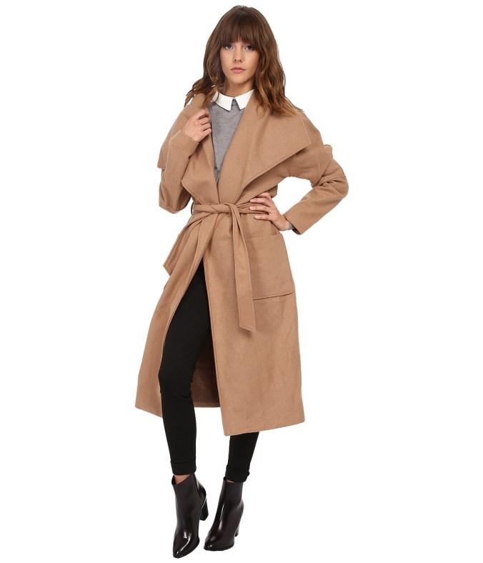 ONLY - Edna Wrap Coat (Tannin) Women's Coat