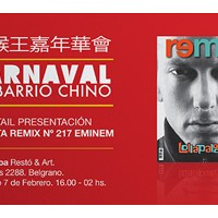 Carnaval en Barrio Chino cocktail presentación revista remix 217 Eminem