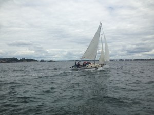 Ganymede sailing in Narragansett Bay