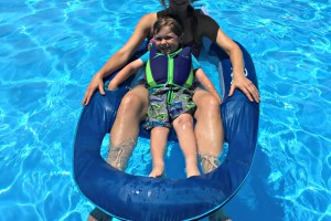 Pool Bliss with SwimWays Spring Float Recliner