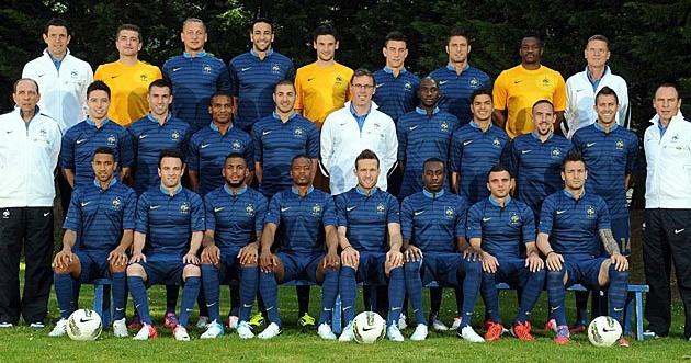 La photo officielle des Bleus sélectionnés pour l'Euro