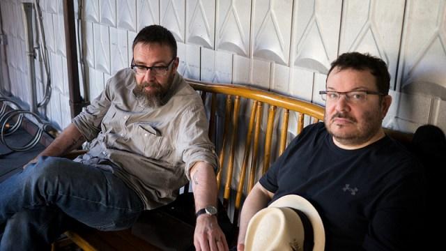Mike Monteiro and Jeffrey Zeldman at Marciland, West Seattle. Photo (c) Daniel Mall.