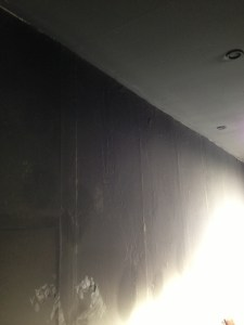 Kitchen walls & ceiling, blackened