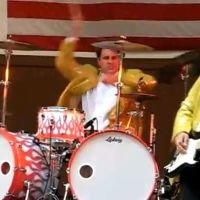 this drummer is at the wrong gig