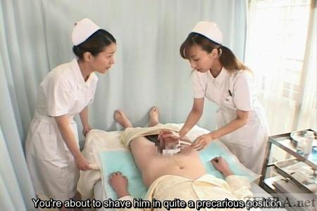 doctor examines erection