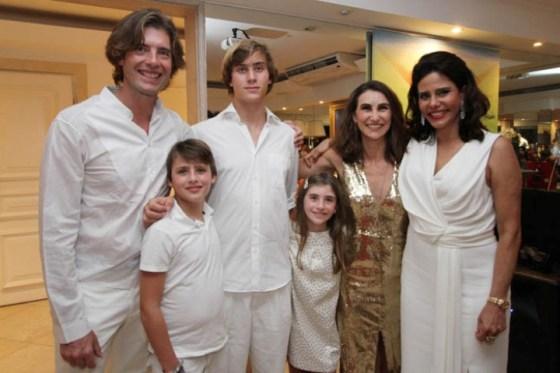 Narcisa com a família Chapelle-Russovsky