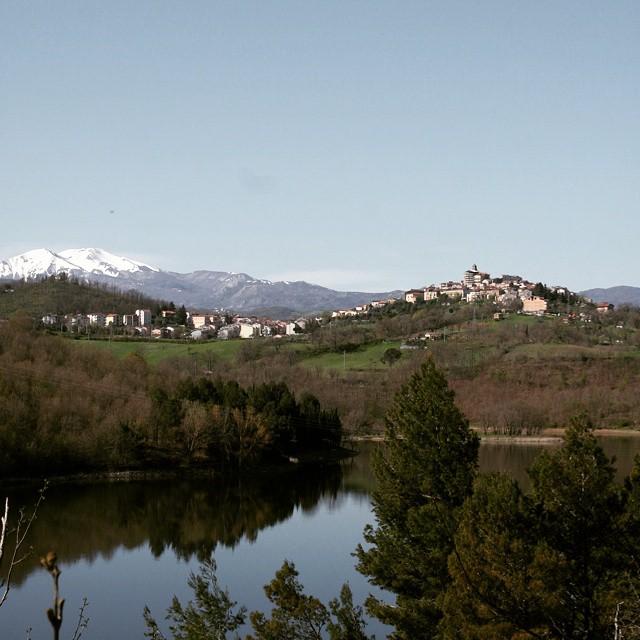#spinoso #basilicata #valdagri #pertusillo e il monte #sirino innevato sullo…