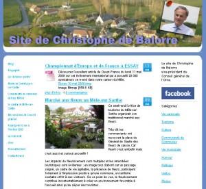 Le blog de Christophe de Balorre