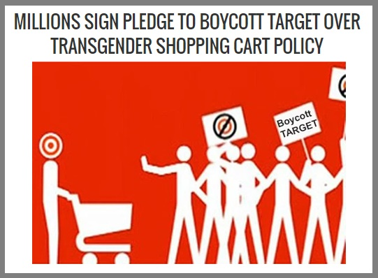 transgender target bathrooms, controversial policy, rape, sexual predators, Minneapolis based retailer, shopped at target for the last time, Millions sign pledge to boycott target over transgender bathroom policy, North Carolina's recently enacted law, restricts gender identity, public buildings, pearl jam, bruce springsteen canceled concert in protest,hopping cart policy, allowing men to use a woman's shopping cart, #boycotttarget, welcome to use shopping cart, shopping basket, target's new pink shopping baskets, corporate website, inclusivity is a core belief at target, Starbucks, Apple, Google, Twitter, walgreens, family dollars, FAcebook backlash, top controversial article news of 2016,