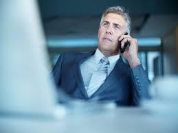 executive on phone