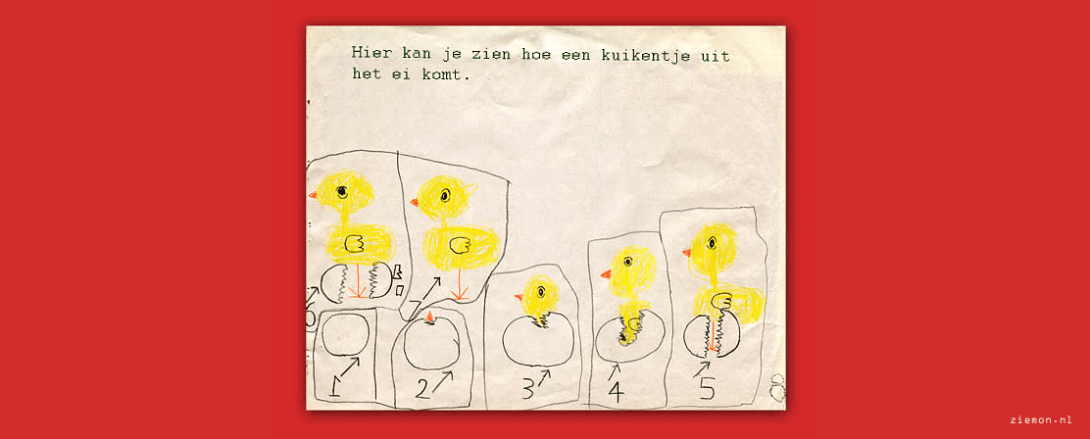 At age 5: 'Kuikentjes' in the class room