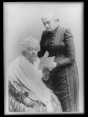 Elizabeth Cady Stanton and Susan B. Anthony. Photo credit: Library of Congress