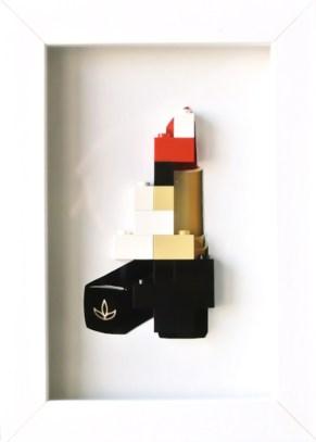 Redlips , stampa digitale e lego 13x10 cm