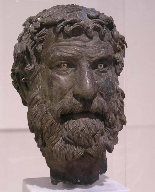 Antikythera philosopher sculpture