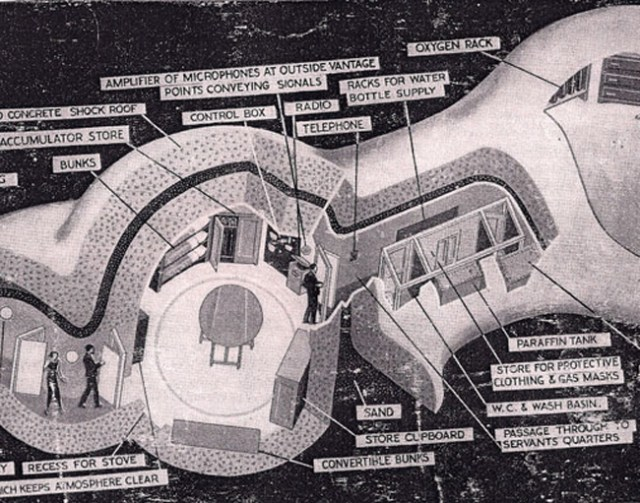 Found Fragment Of A Discarded Cutaway Diagram of The Future