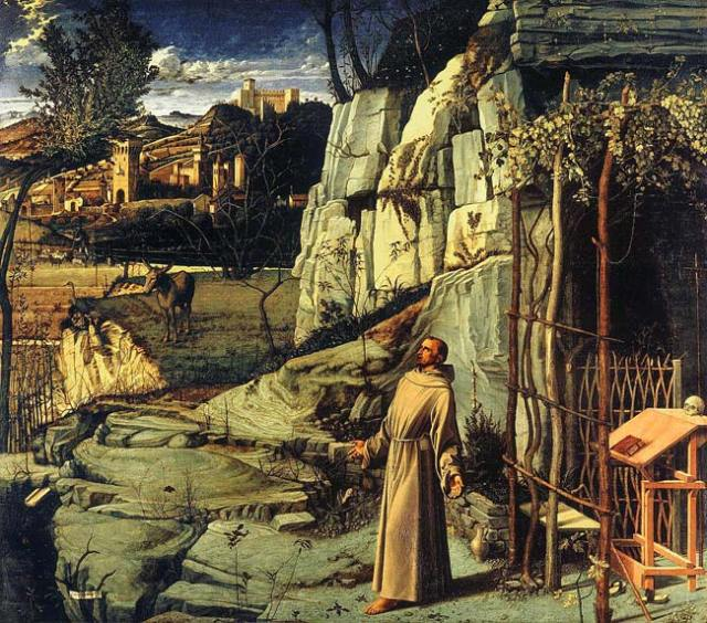 Giovanni Bellini -- St. Francis in the Desert