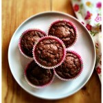 Cocoa, hazelnut and banana muffins