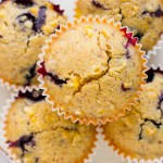 Vegan Corn Blueberry Muffins