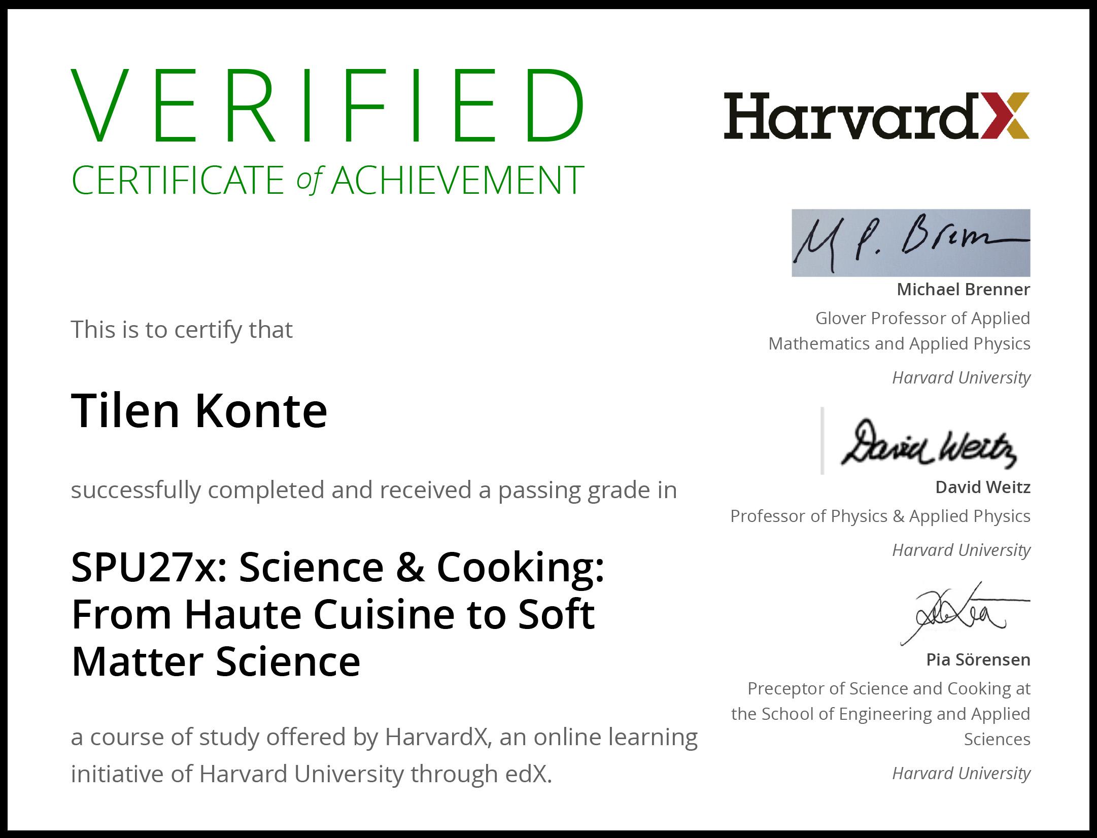 HarvardX SPU27x Certificate | edX