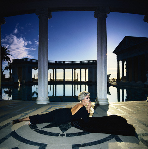 Carmen Dell'Orefice by the Neptune Pool