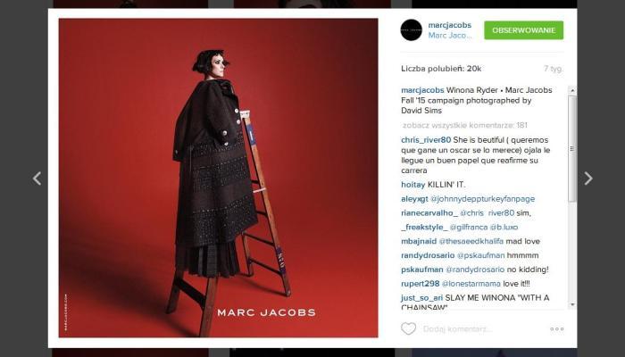 Starsze Panie rulez! Cher i Winona Ryder z Marc Jacobs. Nowa kampania, jesień 2015.