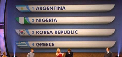 Sorteo para argentina