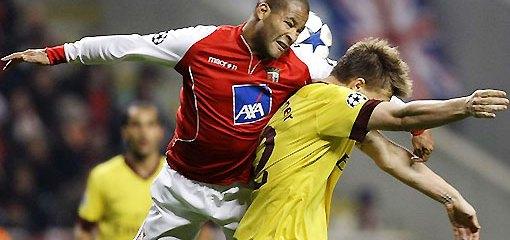 El Braga venció al Arsenal