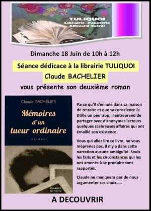 Dédicace Claude Bachelier