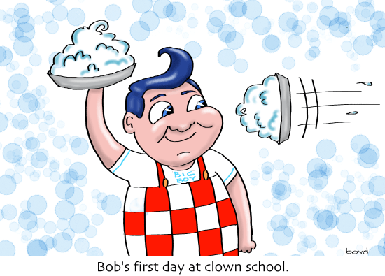 Bob's first day at Clown School