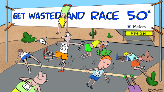 Get Wasted Running race