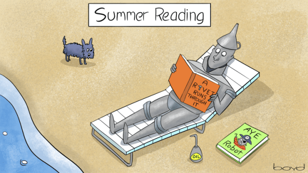 Tinman does some summer reading