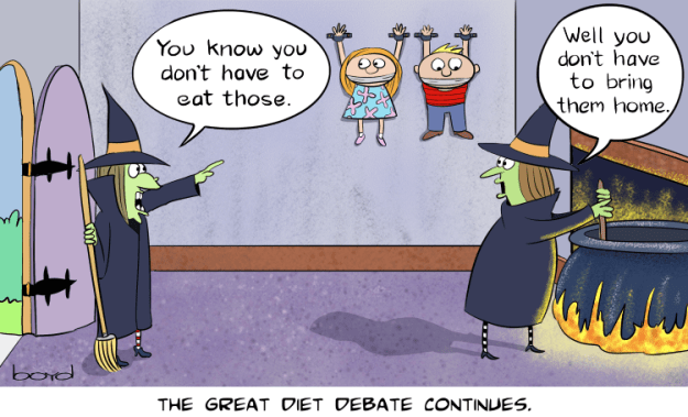 Two witches have diet debate
