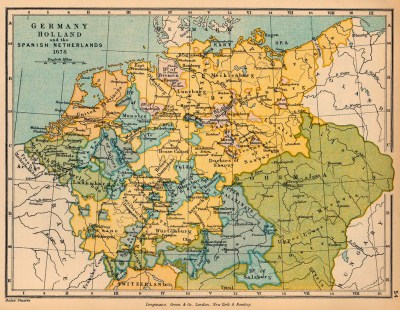 Germany, Holland and the Spanish Netherlands in 1678 - Full size