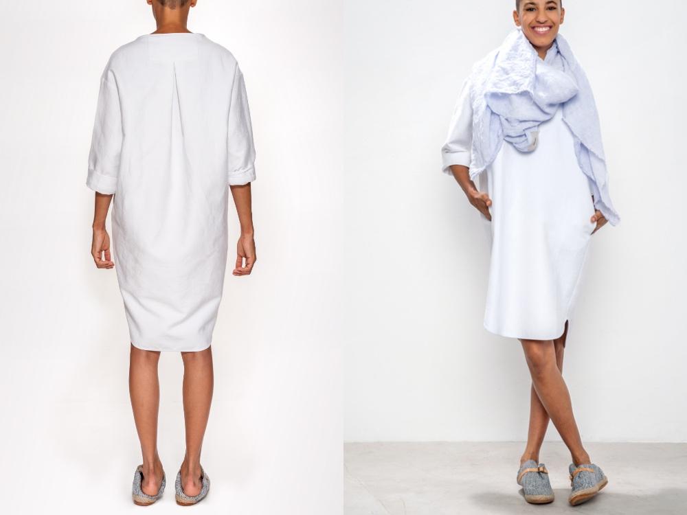 humanoid sukienka biała