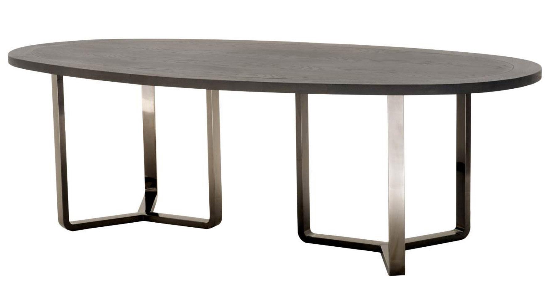 Sleek Stainless Steel Black Zurifurniture Jaffa Oval Oak Table Stainless Steel Black Zuri Oak Table Jaffa Oval Oak Table Leaf Oak Table Osrs houzz-03 Oak Dining Table