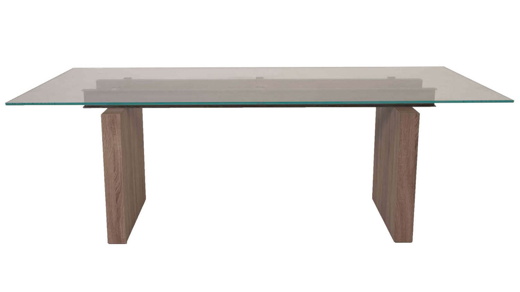 Soothing Trestle Table Driftwood Base Tempered Super Clear Glass Zuri Furniture Trestle Table Driftwood Base Tempered Super Clear houzz-03 Trestle Dining Table